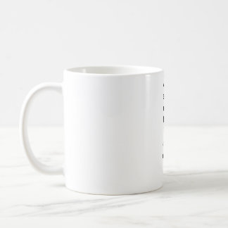 Taza De Café golpecito vertical de la plantilla