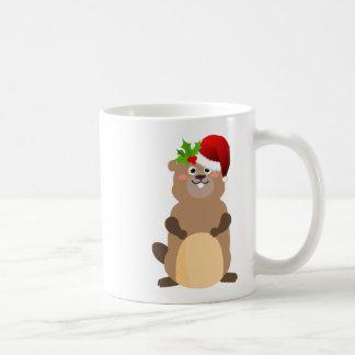Taza De Café Gopher del navidad de Papá Noel