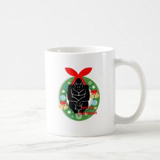 Taza De Café gorila de las Felices Navidad
