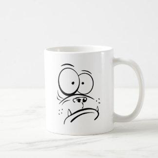 Taza De Café Gorila divertido que mira imagen confusa del
