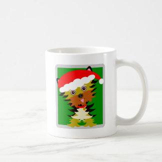 Taza De Café Gorra colorido de Santa del dibujo animado de