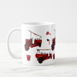 Taza De Café Gorra rojo del hacha del casquillo del camión de