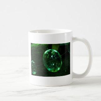Taza De Café Gota de agua del vidrio verde