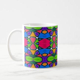 Taza De Café Gotas abstractas en colores pastel del arco iris