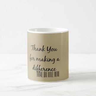 Taza De Café Gracias por diferenciar