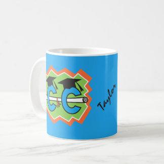 Taza De Café Graduado personalizado del corredor del campo a