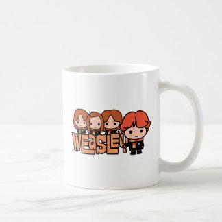 Taza De Café Gráfico de Weasley Siblilings del dibujo animado