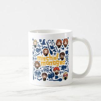 "Taza De Café Gráfico manejado ""travesura"" del dibujo animado"