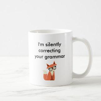 Taza De Café Gramática del Fox del inconformista