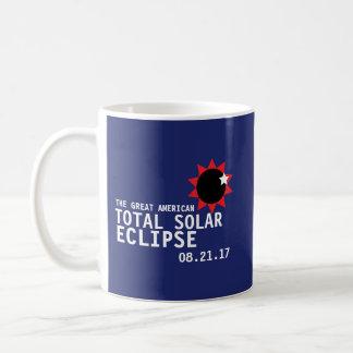 Taza De Café Gran eclipse solar total americano