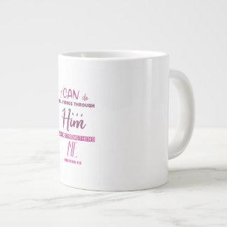 Taza De Café Grande 4:13 de los filipenses - puedo hacer todas las