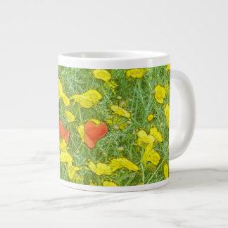 Taza De Café Grande Amapolas de la acuarela