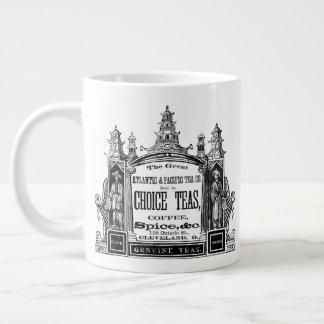 Taza De Café Grande Anuncio bien escogido de los tés del vintage