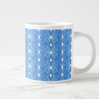 Taza De Café Grande Azules traseros del diamante