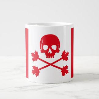 Taza De Café Grande Bandera canadiense modificada para las tecnologías