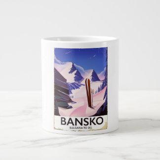 Taza De Café Grande Bansko Bulgaria a esquiar
