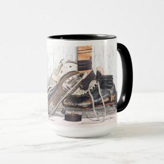 Taza de café grande de la máscara de los patines