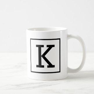 Taza de café grande del monograma
