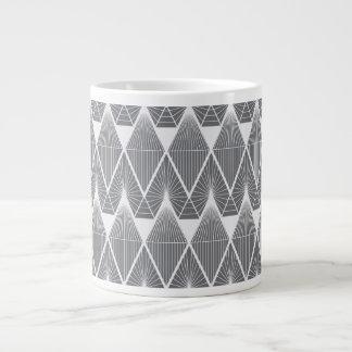 Taza De Café Grande Diamantes grises