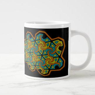 Taza De Café Grande Diseño geométrico de la Tri Flecha