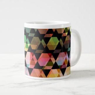 Taza De Café Grande Diseño gráfico del hexágono abstracto
