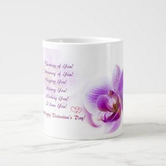 Taza De Café Grande El día de San Valentín feliz