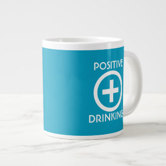 Taza De Café Grande El elevar de consumición del positivo