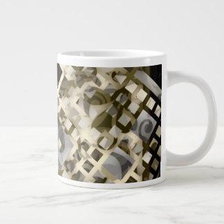 Taza De Café Grande Enrejado