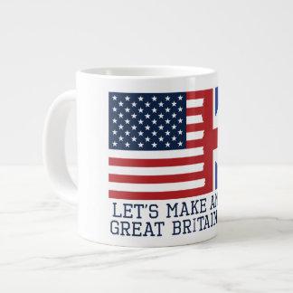 Taza De Café Grande Hagamos que América Gran Bretaña otra vez asalta