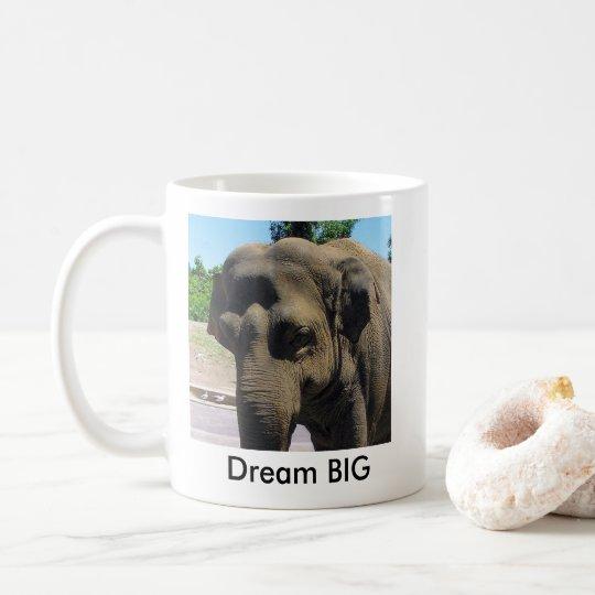 Taza de café GRANDE ideal del elefante