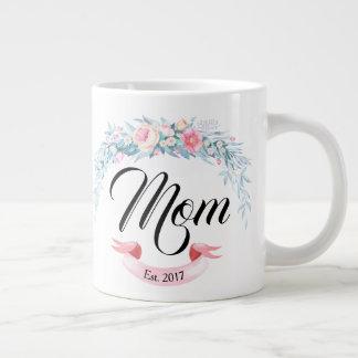 Taza De Café Grande La mamá personalizada estableció la guirnalda de
