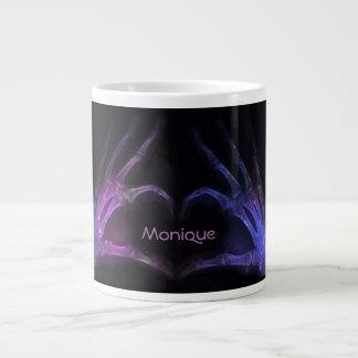 Taza De Café Grande Los dedos púrpuras personalizados de la