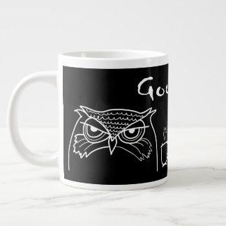 Taza De Café Grande Negro irónico de la sol divertida enojada de la