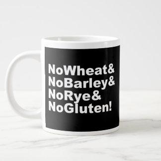 Taza De Café Grande ¡NoWheat&NoBarley&NoRye&NoGluten! (blanco)