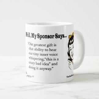 Taza De Café Grande Nuestro regalo más grande es esa capacidad de oír…