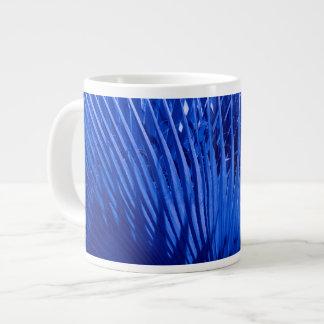 Taza De Café Grande Palmas azules
