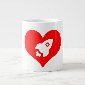 Taza De Café Grande Para el amor del espacio:  Un poco ardor de
