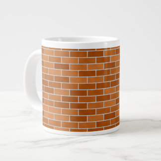 Taza De Café Grande Pared de ladrillo de Brown