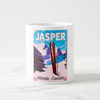 Taza De Café Grande Poster del viaje de Alberta Canadá del jaspe