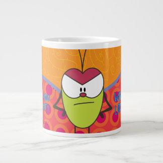 Taza De Café Grande Pulga divertido el dibujo animado de la pulga qué