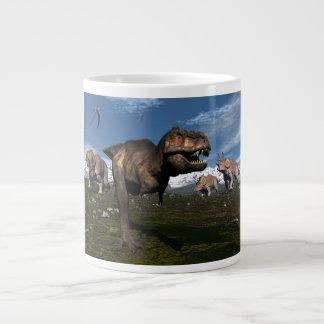 Taza De Café Grande Rex del Tyrannosaurus atacado por el dinosaurio