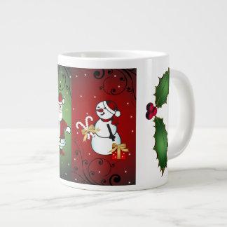 Taza De Café Grande Santa y Snoman - usted puede tenerlos ambos