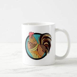 Taza De Café granja de las aves de corral del gallo