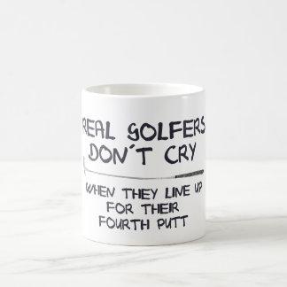 Taza De Café Grito real del don´t de los golfistas