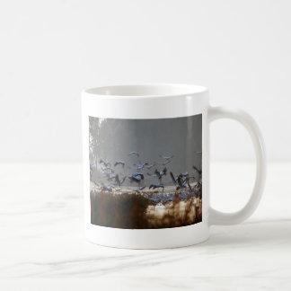 Taza De Café Grúas del vuelo