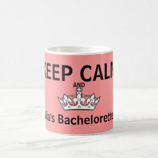 Taza De Café Guarde el rosa tranquilo de Bachelorette