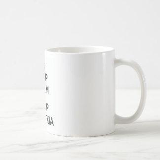 Taza De Café Guarde la almeja y pare la dislexia
