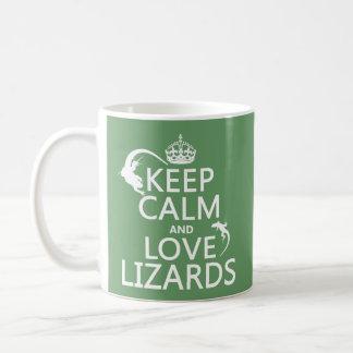 Taza De Café Guarde la calma y ame los lagartos - todos los