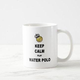 Taza De Café Guarde los productos del water polo de la calma y