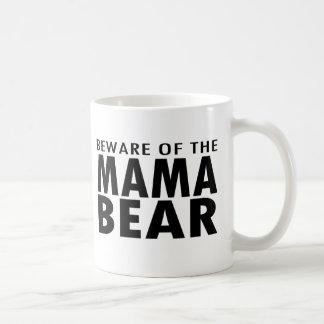 Taza De Café Guárdese de la mamá Bear Mug